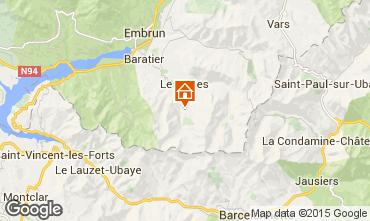 Karte Les Orres Appartement 2113