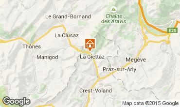 Karte La Giettaz en Aravis Appartement 68773