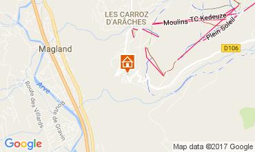 Karte Les Carroz d'Araches Chalet 110198
