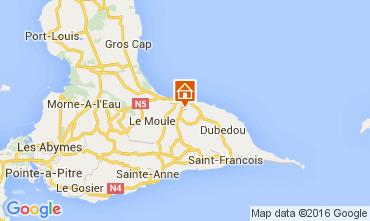 Karte Le Moule Villa 100796