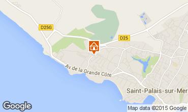 Karte Saint Palais sur Mer Haus 21962