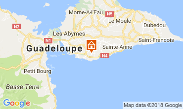 Karte Gosier (Guadeloupe) Villa 77624