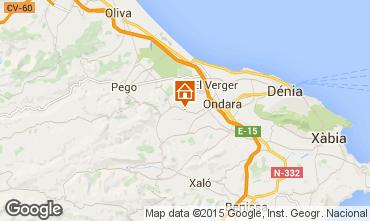 Karte D�nia Ferienunterkunft auf dem Land 29147
