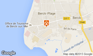 Karte Berck-Plage Appartement 65406