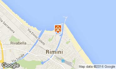 Karte Rimini Appartement 103099