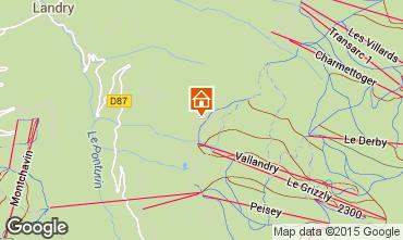 Karte Peisey-Vallandry Chalet 61935