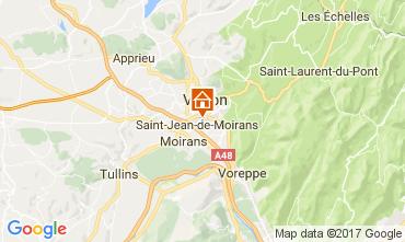 Karte Grenoble Ferienunterkunft auf dem Land 16078