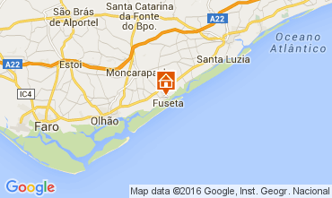 Karte Fuseta Appartement 65636