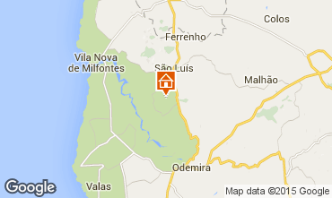 Karte Vila nova de Milfontes Ferienunterkunft auf dem Land 55778