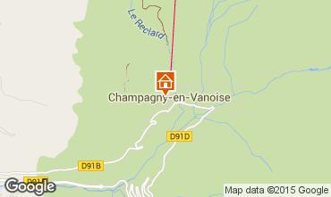 Karte Champagny en Vanoise Appartement 69456