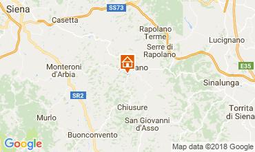 Karte Siena Appartement 113564