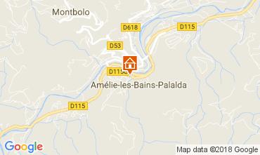 Karte Amélie-Les-Bains Appartement 96364