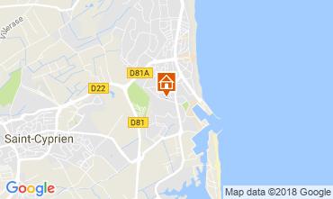 Karte Saint Cyprien Plage Appartement 113321