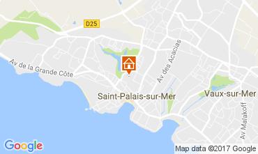 Karte Saint Palais sur Mer Haus 108908