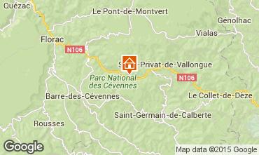 Karte Florac Ferienunterkunft auf dem Land 50858