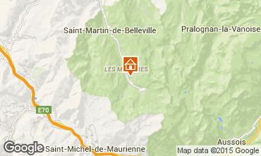 Karte Les Menuires Studio 1593