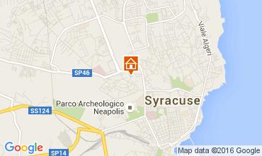 Karte Syrakus Appartement 105548
