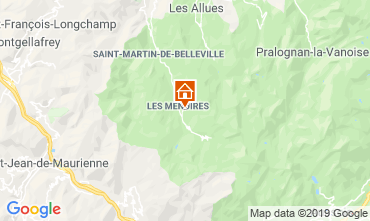 Karte Les Menuires Studio 112436