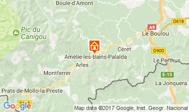 Karte Amélie-Les-Bains Studio 112815