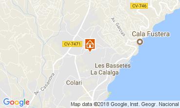 Karte Calpe Appartement 113051