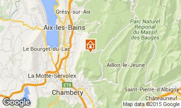 Karte La Féclaz Chalet 65968