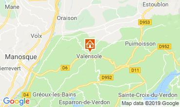 Karte Valensole Haus 117856