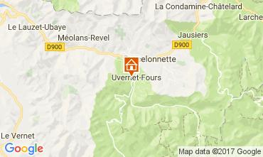 Karte Barcelonnette Appartement 112000