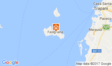 Karte Favignana Appartement 82028