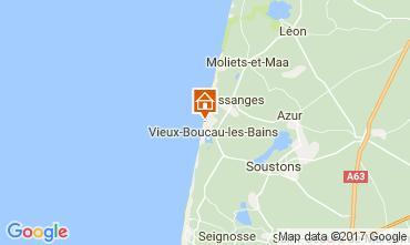 Karte Vieux Boucau Bungalow 61605