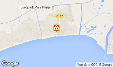 Karte Vias Plage Mobil-Home 10474