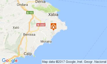 Karte Moraira Villa 108971