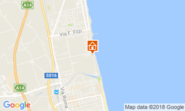 Karte Alba Adriatica Appartement 61621
