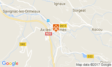 Karte Ax Les Thermes Appartement 111685