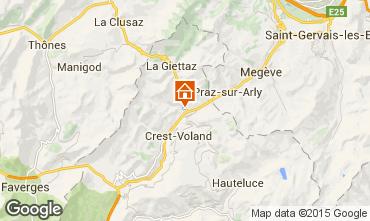 Karte Flumet Val d'Arly Appartement 58793