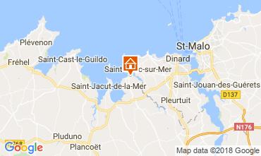 Karte Lancieux Ferienunterkunft auf dem Land 113987