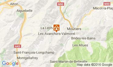 Karte Valmorel Chalet 17349