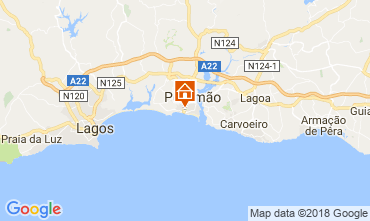 Karte Praia da Rocha Appartement 113833