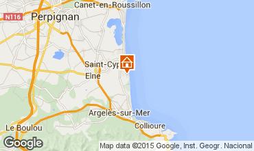 Karte Saint Cyprien Plage Appartement 60455
