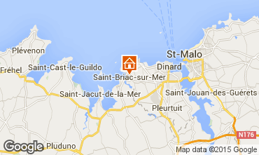 Karte Saint Briac sur Mer Appartement 79183