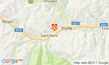 Karte Aosta Appartement 73820
