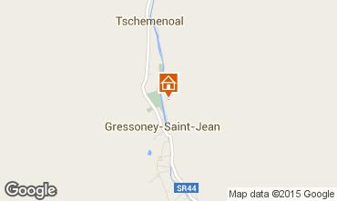 Karte Gressoney Saint Jean Appartement 58532
