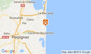 Karte Sainte Marie la Mer Villa 80236