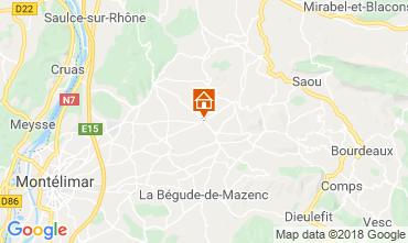 Karte Dieulefit Ferienunterkunft auf dem Land 115038