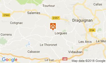 Karte Lorgues Ferienunterkunft auf dem Land 113817