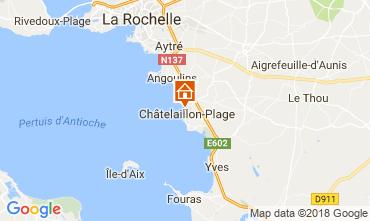 Karte Châtelaillon plage Ferienunterkunft auf dem Land 113513