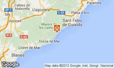 Karte Tossa de Mar Appartement 81181