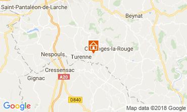 Karte Brive-la-Gaillarde Haus 115407