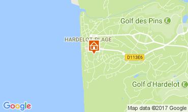 Karte Hardelot Studio 7781