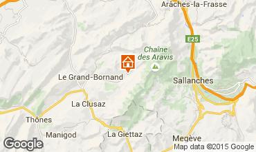 Karte Le Grand Bornand Appartement 1369