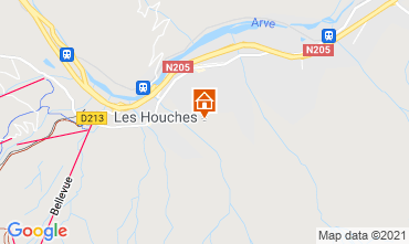 Karte Chamonix Mont-Blanc Chalet 1412